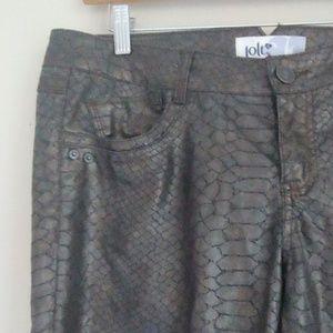 JOLT Size 13 Snakeskin Print Skinny Jeans NWOT